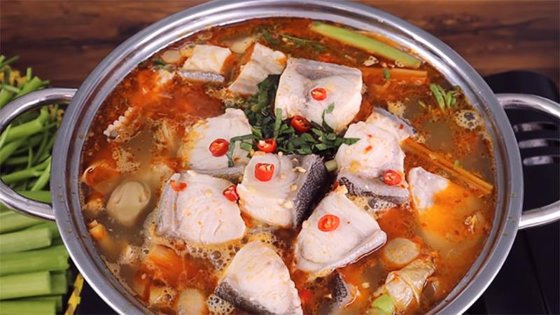 Lẩu cá bớt thịt mềm thơm không tanh