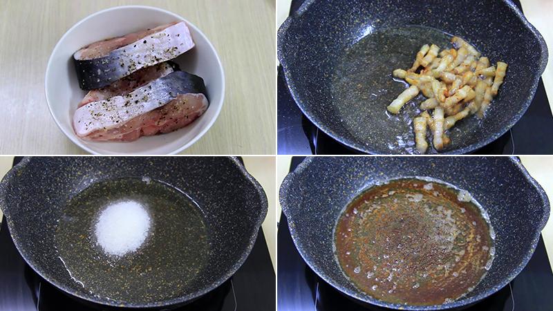 Sơ chế nguyên liệu làm món cá ba sa kho tiêu