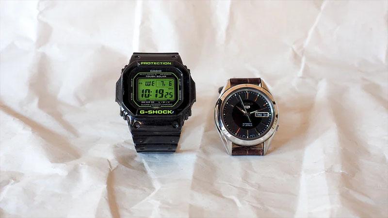 G-Schock của Casio vs đồng hồ Seiko