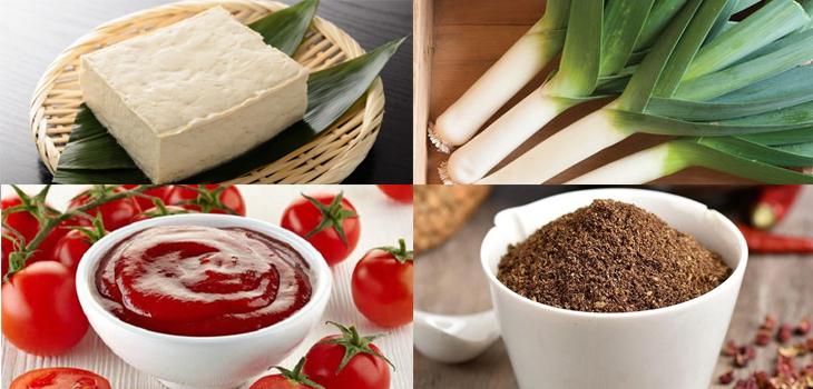 Nguyên liệu món ăn đậu hủ tứ xuyên chay