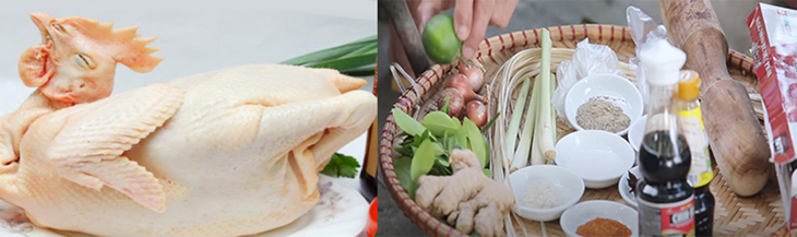 Nguyên liệu món ăn gà đắp đất sét nướng giấy bạc
