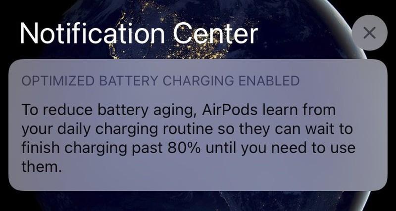 Với iOS 14, Apple đã bổ sung cho AirPods tính năng Optimized Battery Charging