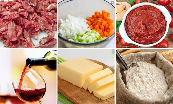 Nguyên liệu món ăn sốt espagnole - sốt nâu từ bò