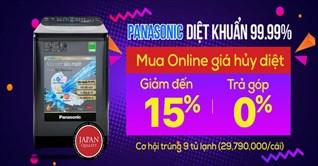 Mua máy giặt Panasonic, trúng tủ lạnh Panasonic hơn 29 triệu