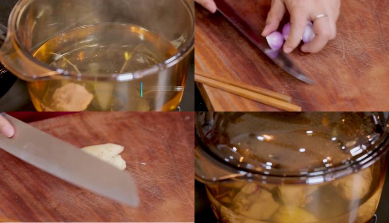 Nấu nước lèo món bánh canh