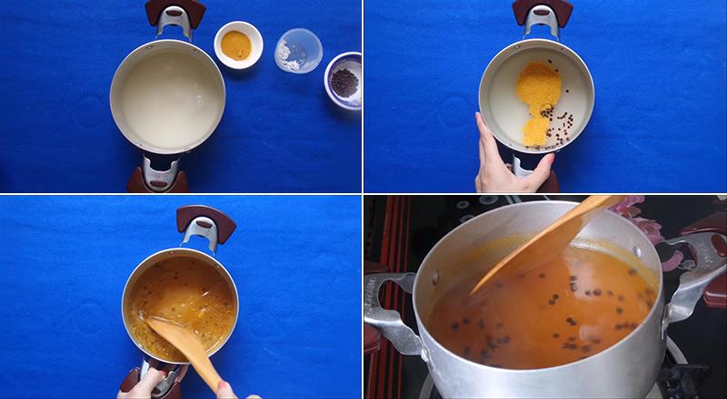 Nấu nước muối củ cải