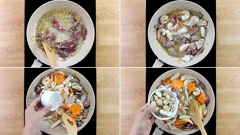 Cách làm mì xào giòn hải sản chuẩn người Hoa, để lâu cũng chẳng mềm
