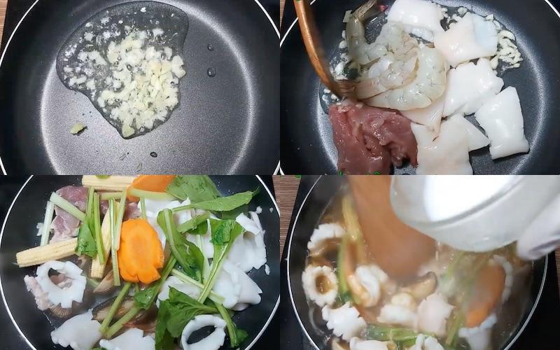 hủ tiếu mềm xào hải sản | Món Miền Trung