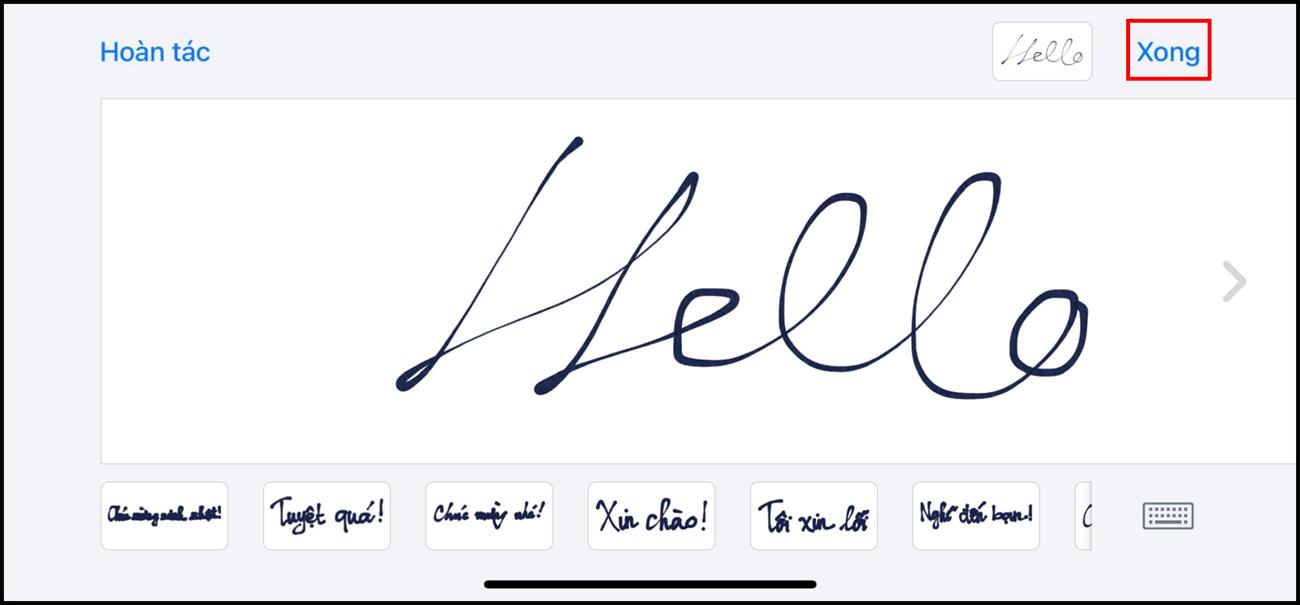 Hướng dẫn các bước tạo và gửi tin nhắn viết tay