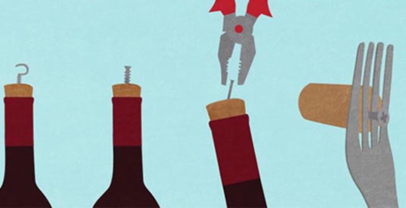 Cách mở chai rượu vang không cần dùng đồ khui