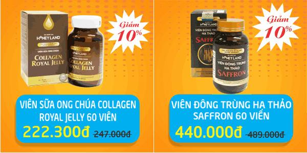 Giảm giá lên đến 20% các sản phẩm thương hiệu Honey Land