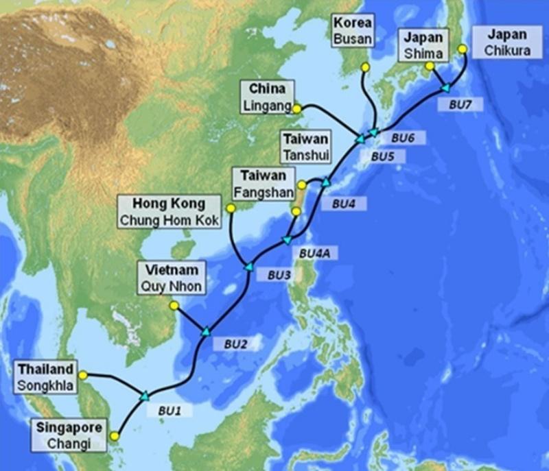 Tuyến cáp biển SJC2 sẽ cung cấp thêm một dung lượng lớn tốc độ cao kết nối từ Việt Nam đi quốc tế