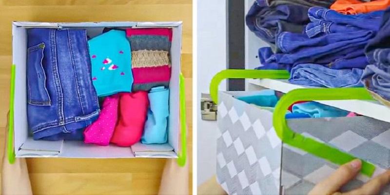 Dùng móc phơi đồ cũ để làm ngăn kéo tủ đồ