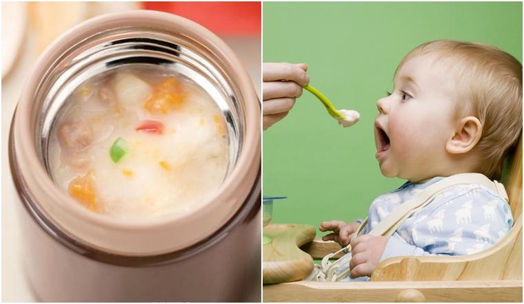 Có nên dùng bình giữ nhiệt để đựng cháo nóng cho trẻ không?