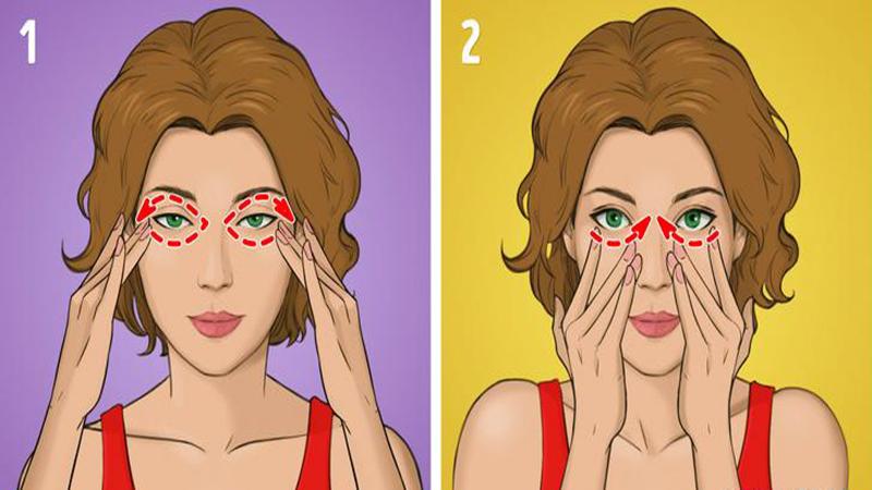 Phương pháp mát xa Nhật Bản- Massage vùng mắt