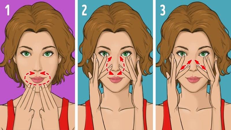 Phương pháp mát xa Nhật Bản - Massage khu vực xung quanh môi