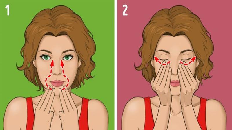 Phương pháp mát xa Nhật Bản - Massage vùng xoang mũi