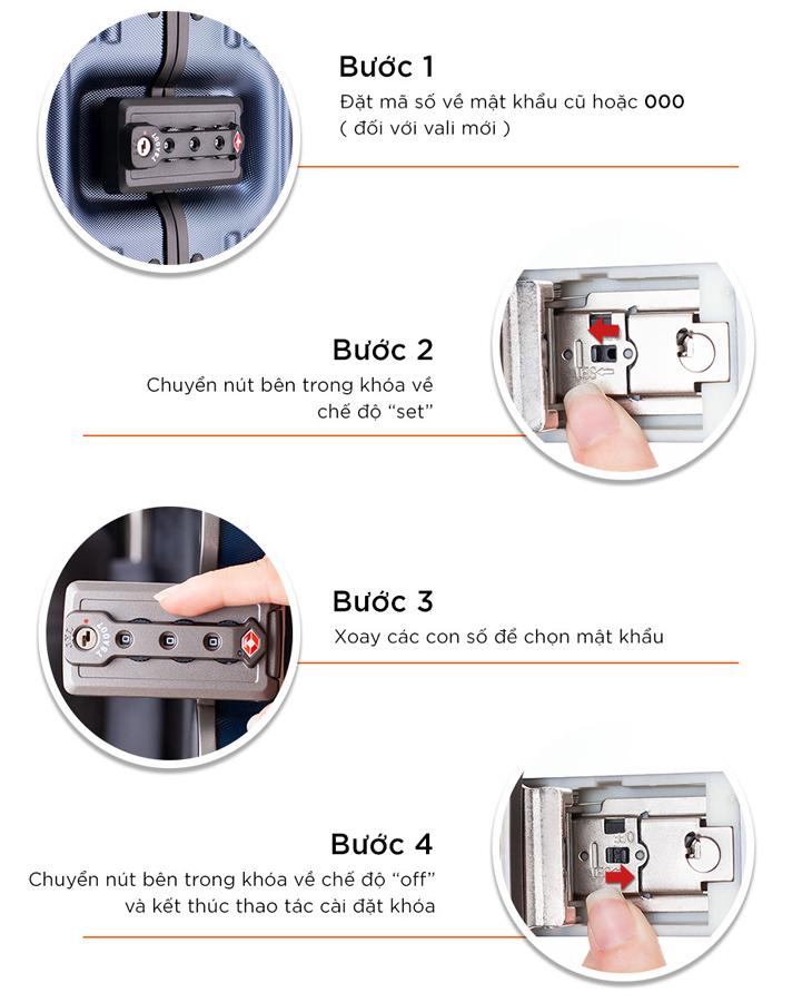 Khóa TSA vali khóa sập hợp kim nhôm/Khóa 180 độ/Khóa 2 điểm