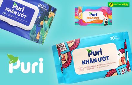 Tìm hiểu về các loại khăn giấy, giấy vệ sinh Puri ở Bách hóa XANH