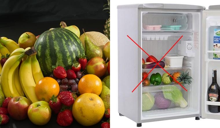 Các loại trái cây tuyệt đối không nên bảo quản trong tủ lạnh
