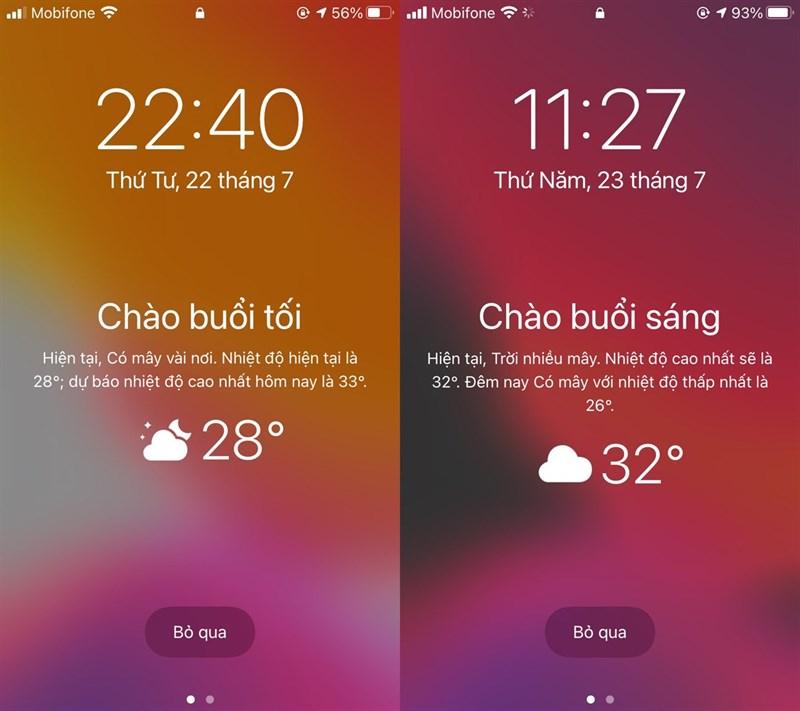 Cách hiện dự báo thời tiết trên màn hình khóa iPhone cực xịn không cần Jailbreak