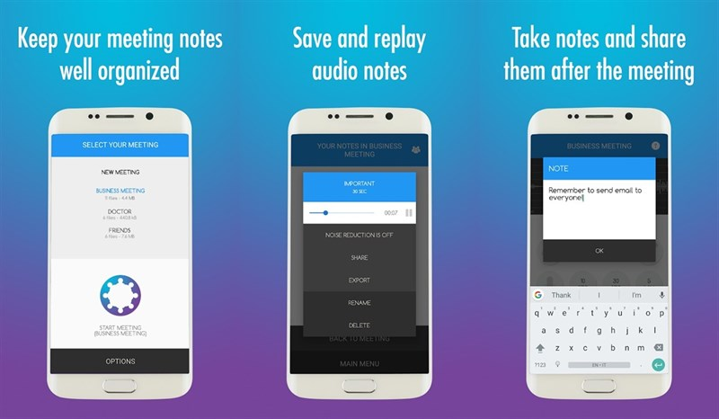 Meeting Notes Taker - Recorder, memo and minutes