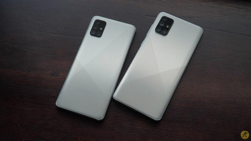 Thiết kế tổng thể của Galaxy A71 vs Galaxy A51