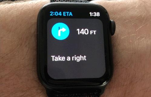 Dùng Apple Watch để điều hướng khi đang lái xe