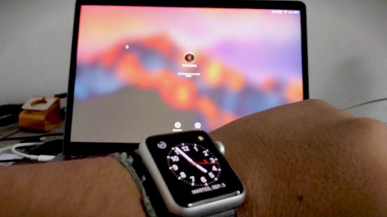 Dùng Apple Watch để mở máy tính Mac