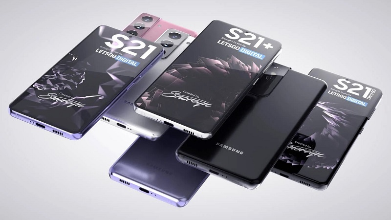Ảnh render về thiết kế của Samsung Galaxy S21 Series