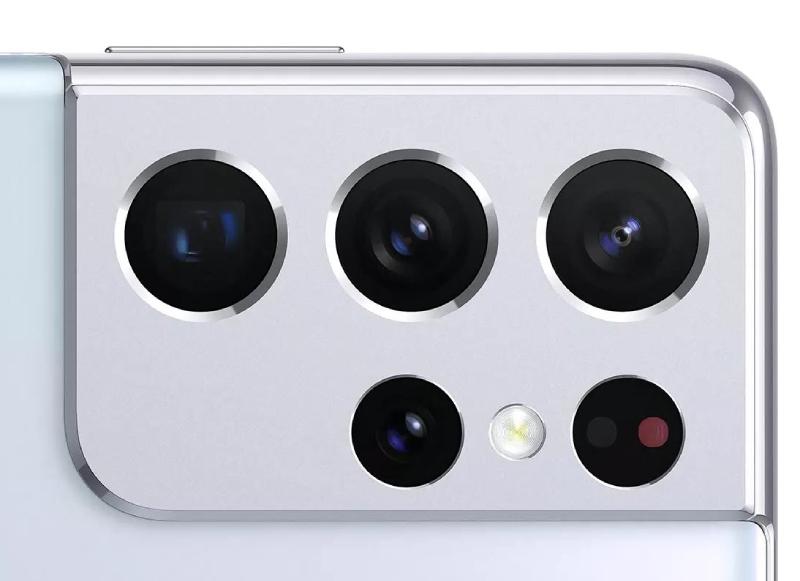 Cụm 4 camera và đèn Flash LED của Samsung Galaxy S21 Ultra