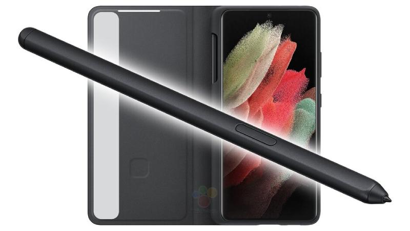 Bút S Pen và ốp lưng của Samsung Galaxy S21 Ultra