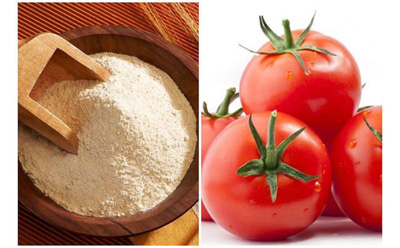 Công thức làm trắng da bằng sữa bột em bé và cà chua