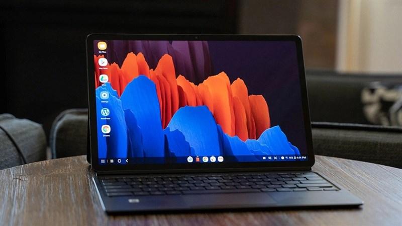 Màn hình của máy tính bảng cao cấp Galaxy Tab S7+ có thể đạt tốc độ làm tươi 120Hz ở độ phân giải tối đa