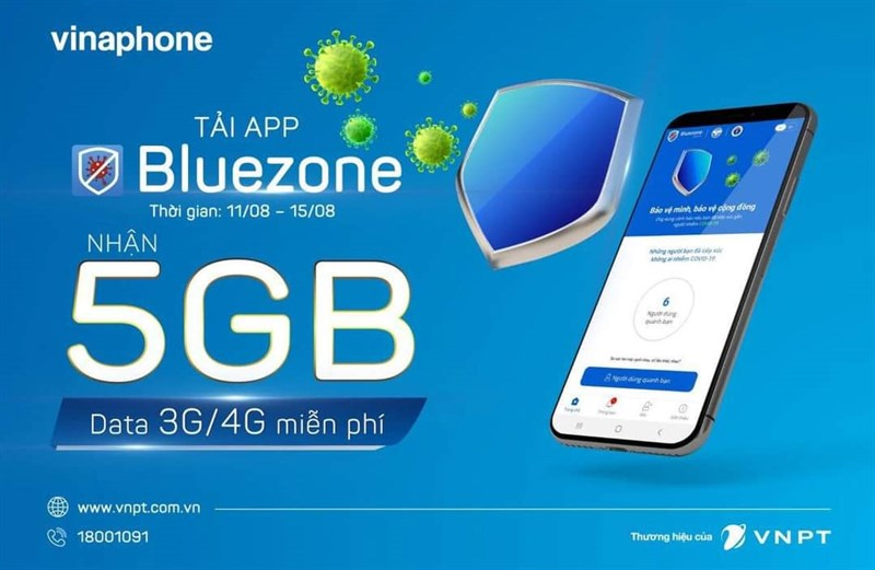 Miễn phí ngay gói cước và dung lượng Data cho thuê bao sử dụng Bluezone