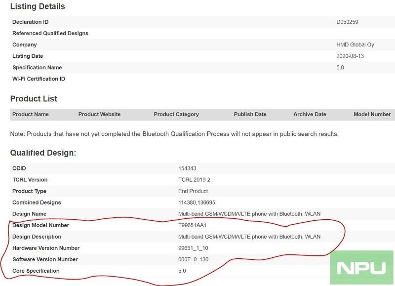 Nokia 2.4 đạt chứng nhận Bluetooth