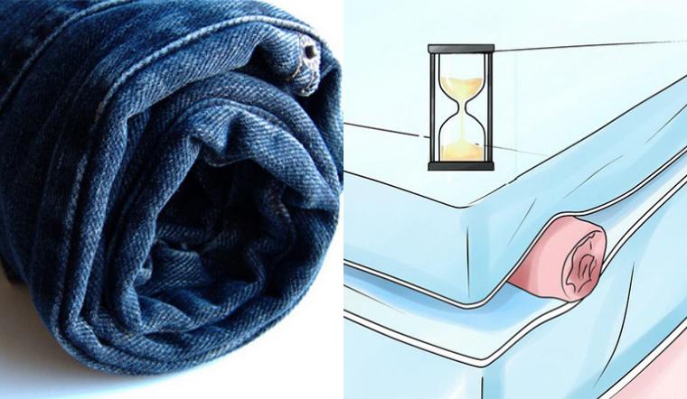 Cuộn tròn quần áo và đặt dưới nệm, 1 giờ sau quay lại bạn sẽ thấy điều kỳ diệu