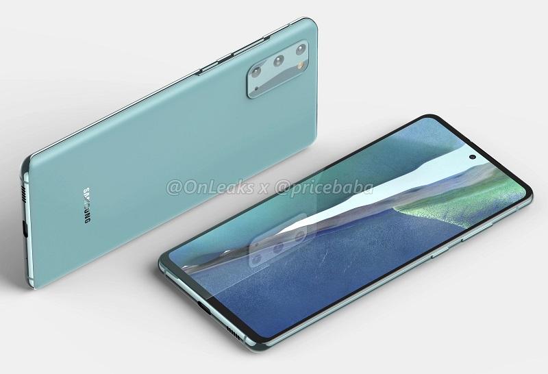Rò rỉ hình ảnh render sắc nét của Galaxy S20 FE 5G Màn hình Infinity-O phẳng, cụm 3 camera hình chữ nhật mặt sau