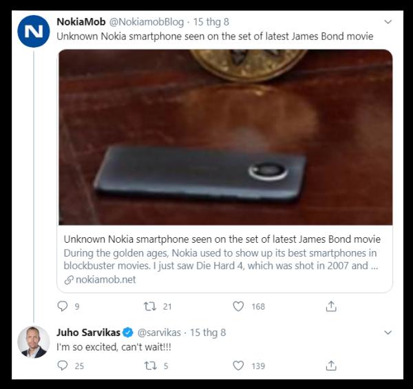 Juho Sarvikas phản hồi rằng: Tôi rất hào hứng với thiết bị mới này
