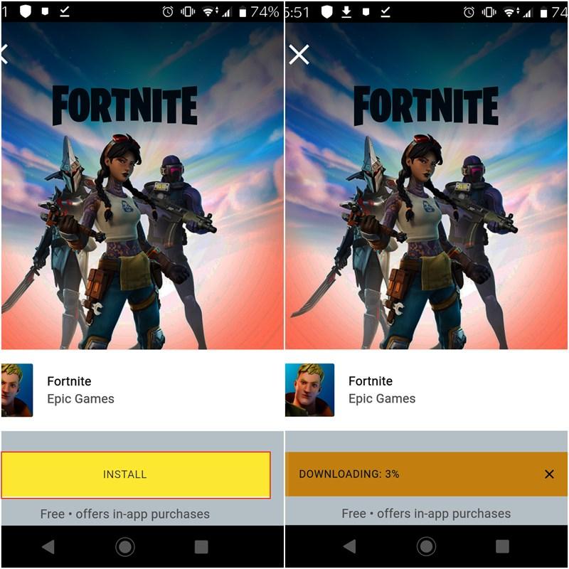 Cách tải game Fortnite trên Android khi đã bị xóa khỏi CH Play