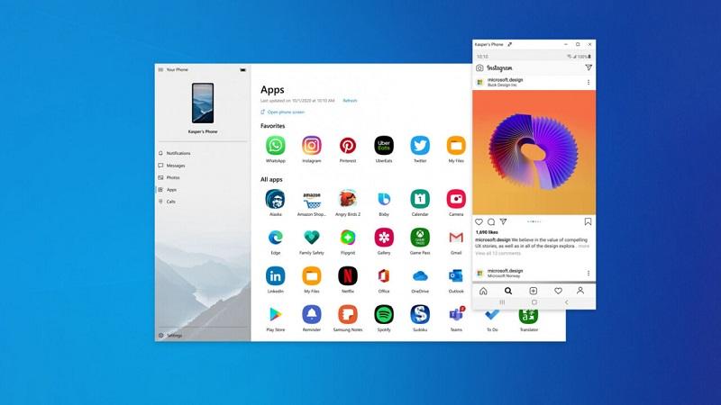 Microsoft tung ra bản cập nhật mới dành cho ứng dụng Your Phone