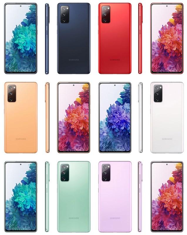 6 màu sắc sẽ được bán ra trên Galaxy Note 20 FE 5G