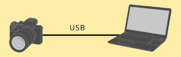Kết nối máy ảnh Sony với laptop thông qua cáp USB và phần mềm Imaging Edge Webcam