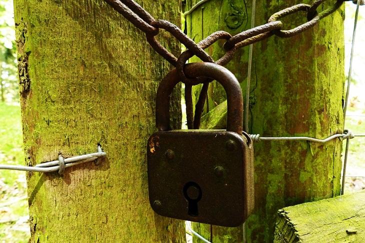 Phương pháp sử dụng ổ khóa tránh rỉ sét