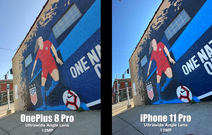 Chế độ 12MP trên OnePlus 8 Pro và iPhone 11 Pro