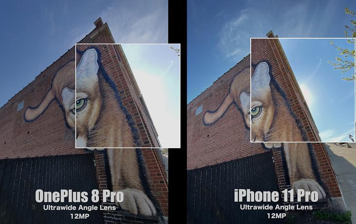 iPhone 11 Pro xử lý chói tốt hơn OnePlus 8 Pro