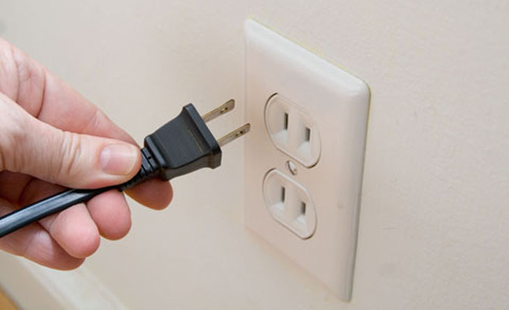 Lưu ý khi kết nối với nguồn điện
