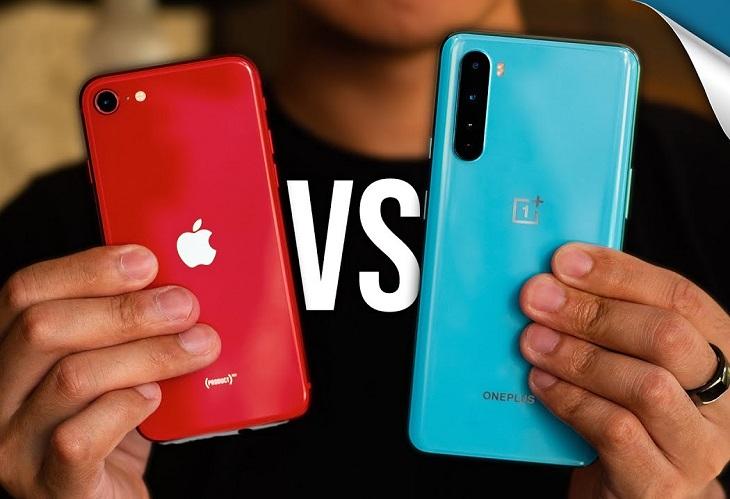 iPhone SE và OnePlus Nord