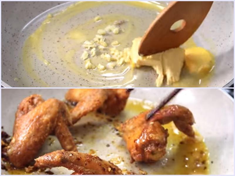 Cách làm cánh gà chiên bơ