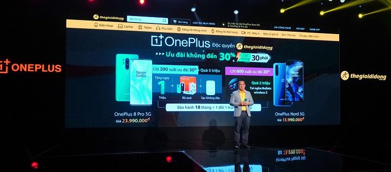 OnePlus 8 Pro 5G và OnePlus Nord 5G chính thức ra mắt tại Việt Nam, bán độc quyền tại Thế Giới Di Động với giá từ 13.99 triệu đồng